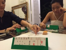 Mahjong cards x wine = <3